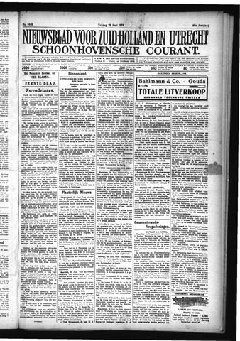 Schoonhovensche Courant 1928-06-29