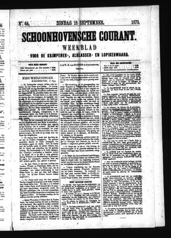 Schoonhovensche Courant 1870-09-18