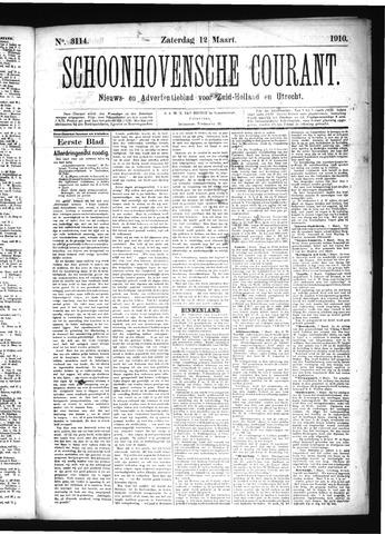 Schoonhovensche Courant 1910-03-12