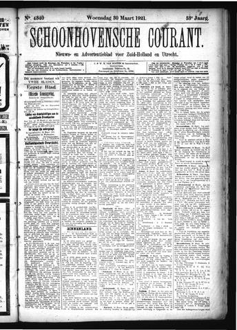 Schoonhovensche Courant 1921-03-30