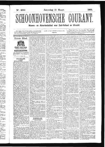 Schoonhovensche Courant 1905-03-11