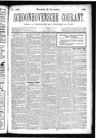 Schoonhovensche Courant 1919-11-10