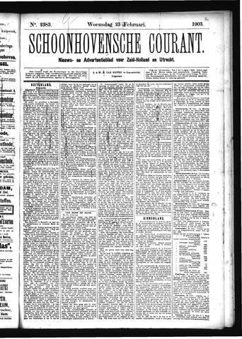 Schoonhovensche Courant 1903-02-25