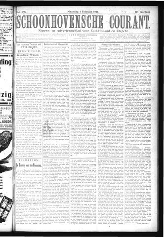 Schoonhovensche Courant 1924-02-04