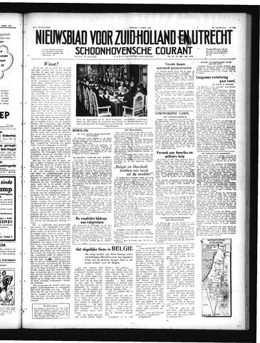Schoonhovensche Courant 1949-04-08