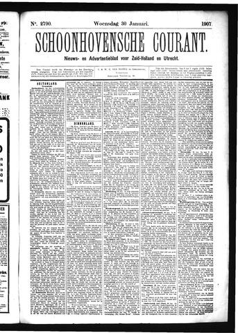 Schoonhovensche Courant 1907-01-30