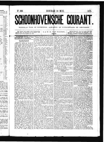 Schoonhovensche Courant 1875-05-16