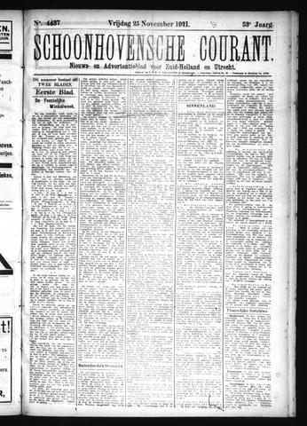 Schoonhovensche Courant 1921-11-25
