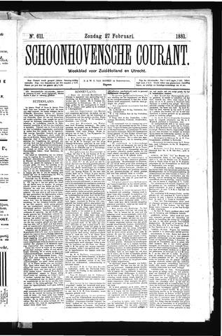 Schoonhovensche Courant 1881-02-27