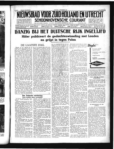 Schoonhovensche Courant 1939-09-01
