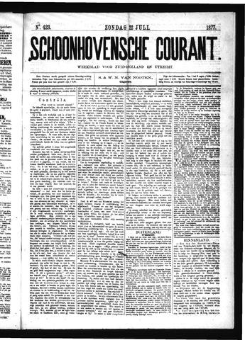 Schoonhovensche Courant 1877-07-22