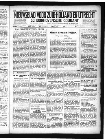 Schoonhovensche Courant 1937-04-05