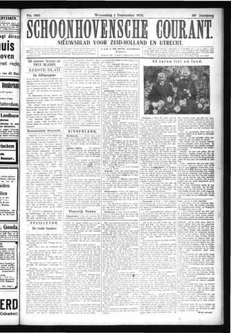 Schoonhovensche Courant 1924-09-03