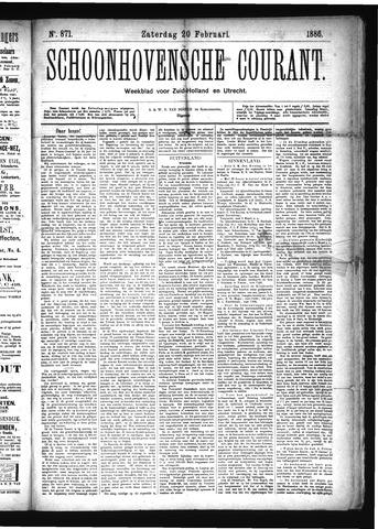 Schoonhovensche Courant 1886-02-20