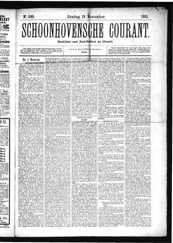 Schoonhovensche Courant 1881-11-13