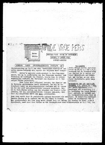 De Vrije Pers 1945-04-29