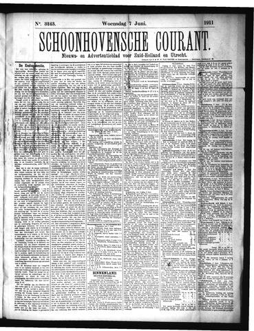 Schoonhovensche Courant 1911-06-07