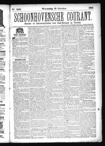 Schoonhovensche Courant 1913-10-29