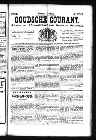 Goudsche Courant 1892-02-01