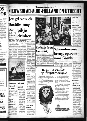 Schoonhovensche Courant 1974-02-20