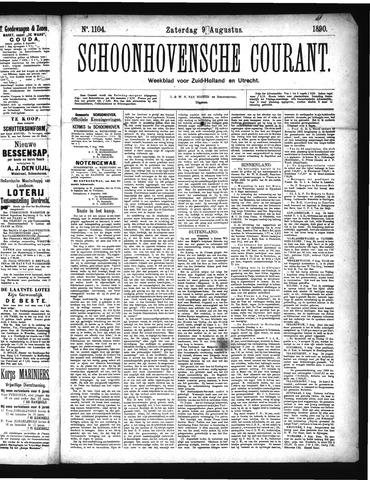 Schoonhovensche Courant 1890-08-09