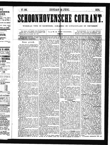 Schoonhovensche Courant 1874-06-14