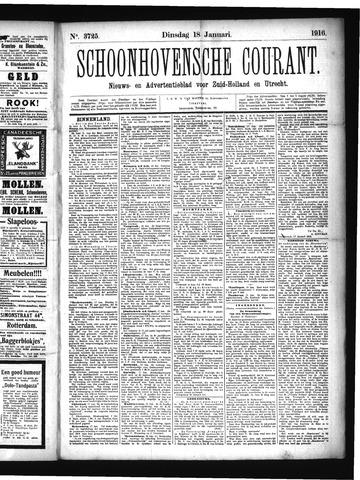 Schoonhovensche Courant 1916-01-18
