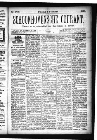Schoonhovensche Courant 1916-02-01