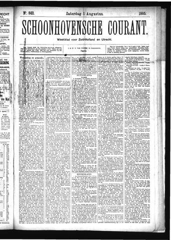 Schoonhovensche Courant 1885-08-01