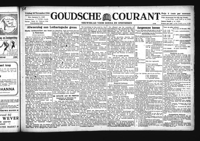 Goudsche Courant 1944-11-10