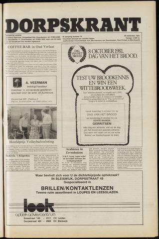 Dorpskrant 1981-09-25
