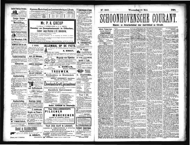 Schoonhovensche Courant 1898-05-18