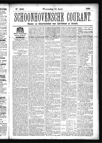 Schoonhovensche Courant 1896-06-24