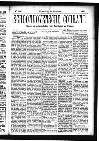 Schoonhovensche Courant 1899-02-22