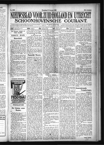 Schoonhovensche Courant 1928-02-29