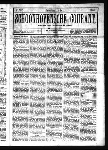 Schoonhovensche Courant 1884-07-12