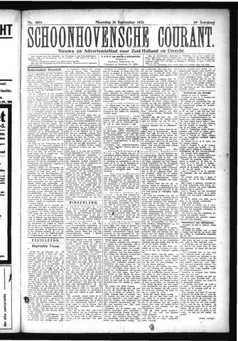 Schoonhovensche Courant 1922-09-25