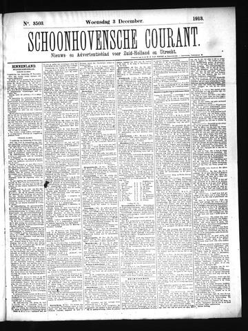 Schoonhovensche Courant 1913-12-03