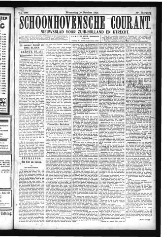 Schoonhovensche Courant 1924-10-29
