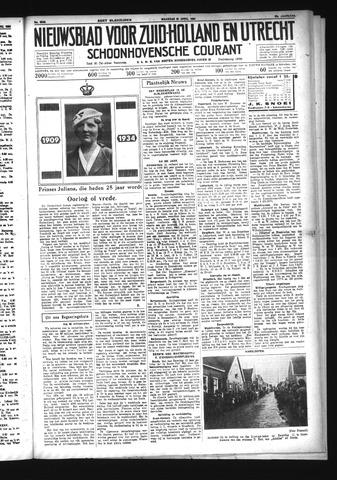 Schoonhovensche Courant 1934-04-30