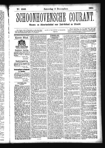 Schoonhovensche Courant 1904-12-03