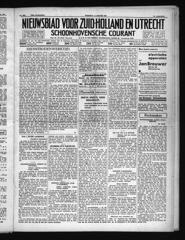 Schoonhovensche Courant 1939-01-11
