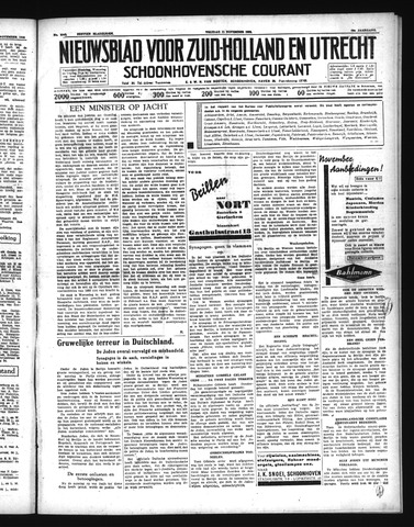 Schoonhovensche Courant 1938-11-11