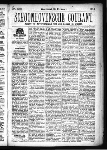 Schoonhovensche Courant 1913-02-26
