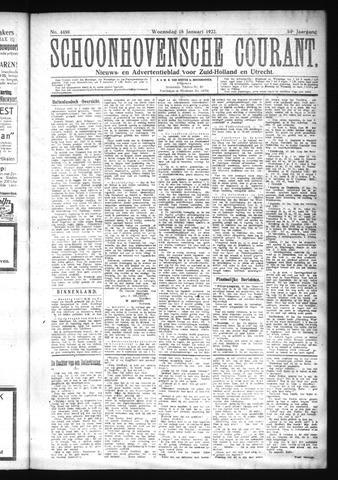 Schoonhovensche Courant 1922-01-18