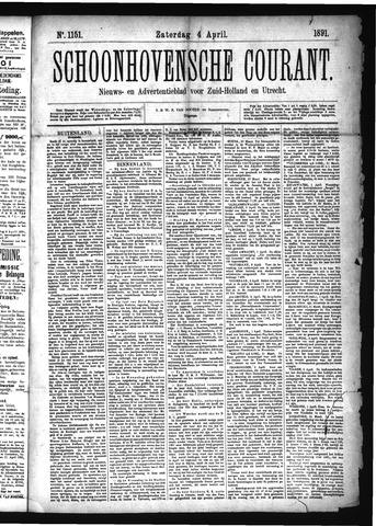 Schoonhovensche Courant 1891-04-04