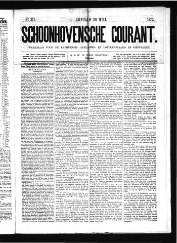 Schoonhovensche Courant 1875-05-30