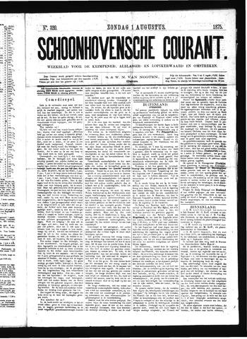 Schoonhovensche Courant 1875-08-01