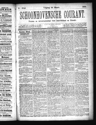Schoonhovensche Courant 1916-03-24