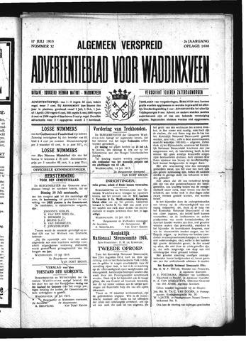 Advertentieblad Waddinxveen 1915-07-17